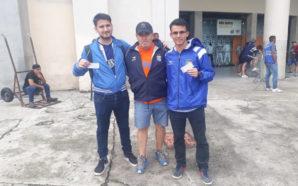 Brasil teñido de albiazul: hinchas santarroseños viven la previa Talleres-Sao…