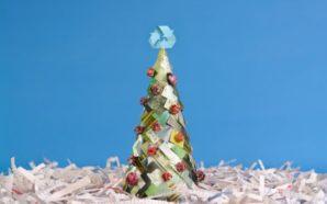 Árboles reciclados: Ayudar al planeta también en Navidad