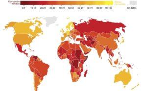 Argentina mejoró su posición en el ranking de la corrupción