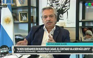 Alberto Fernández: «Espero que este virus maldito nos eduque»