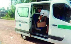 Santiago: Una ambulancia transportaba cajas de fernet para el hijo…