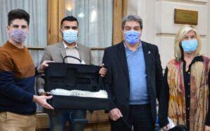 La Banda Municipal de Villa Santa Rosa recibió nuevos instrumentos