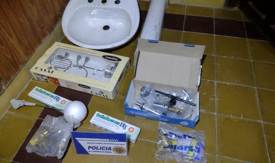 Recuperan elementos robados de la Municipalidad de La Puerta