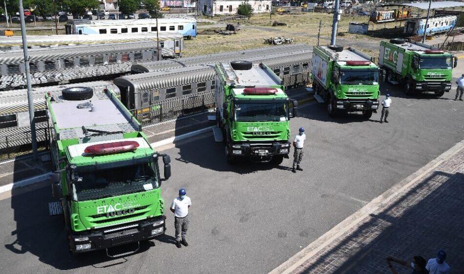 El ETAC incorporó cuatro autobombas nuevas para combatir incendios en…